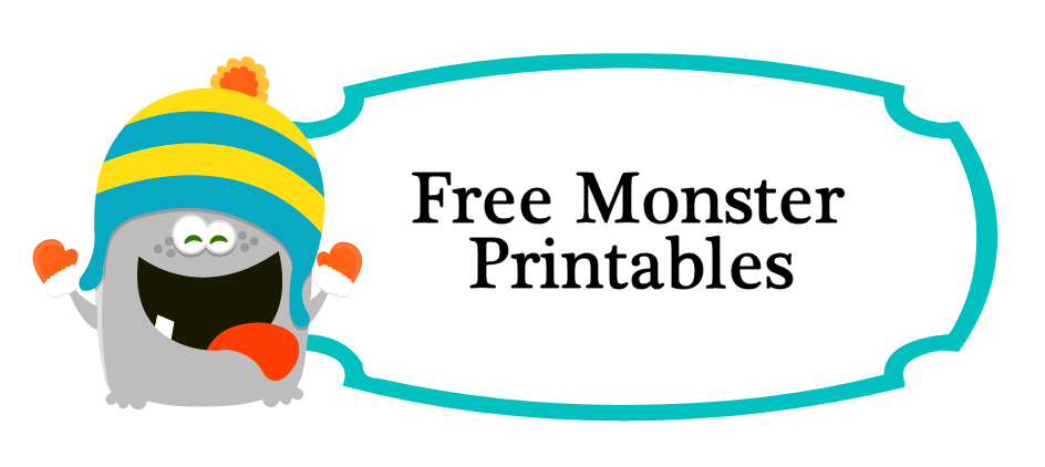 free monster printables