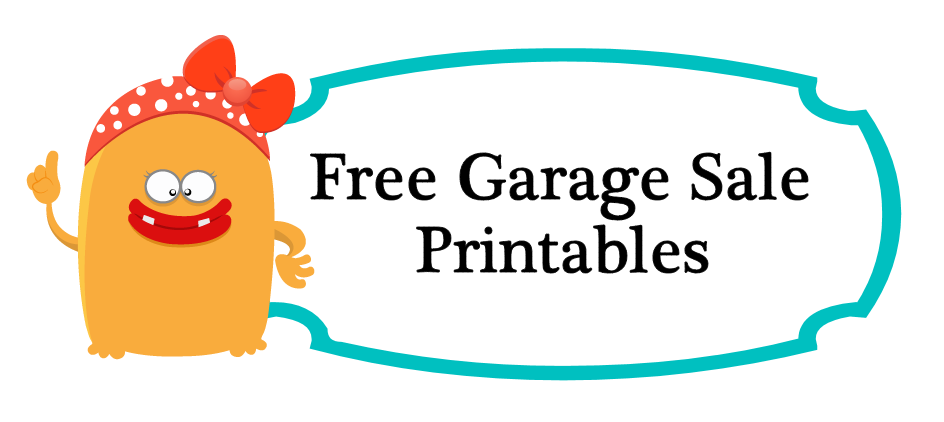 Free garage sale printables