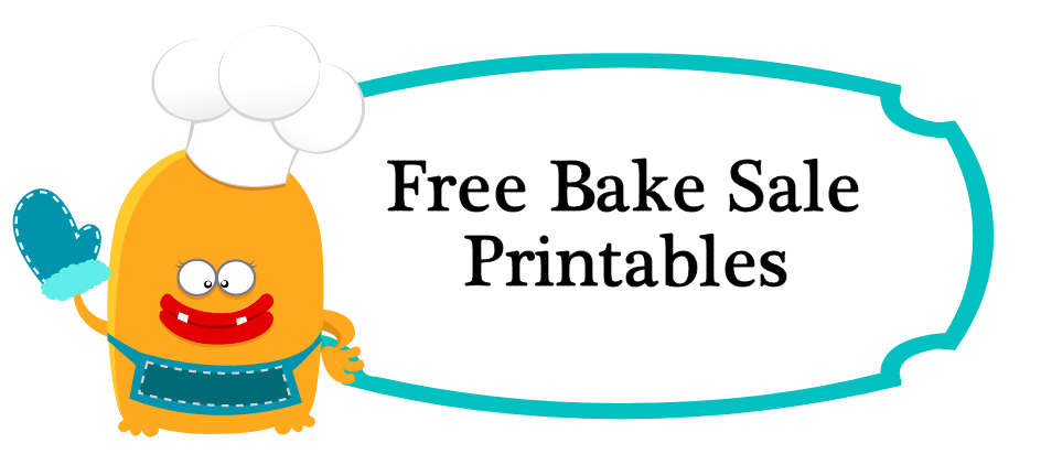 free bake sale price tags