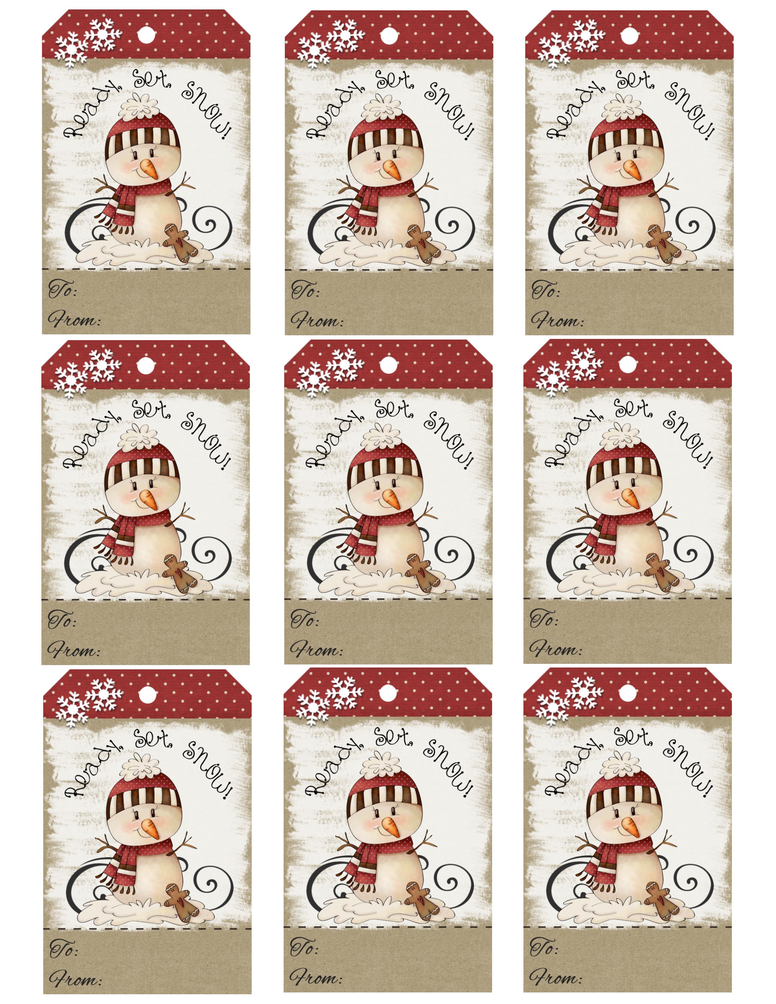 Diy free printable cartoon christmas tags free printable cookies for santa box negle Choice Image