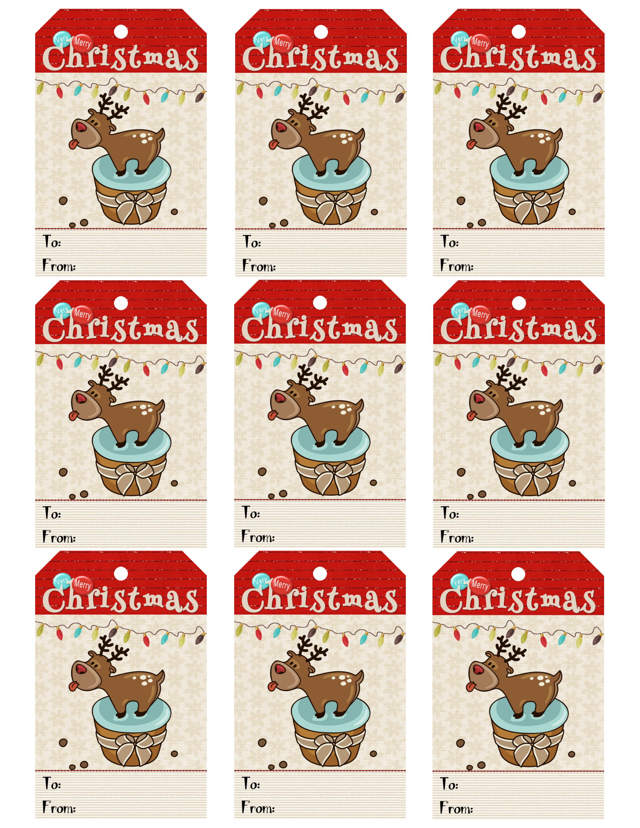 Diy Free Printable Cartoon Christmas Tags