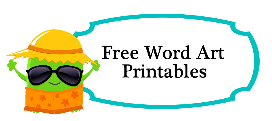 free word art printables