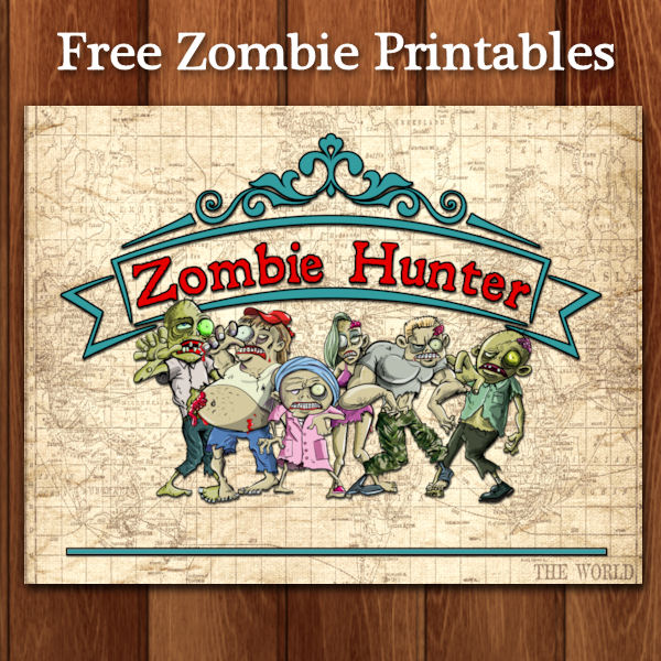Printable Zombie Certificate