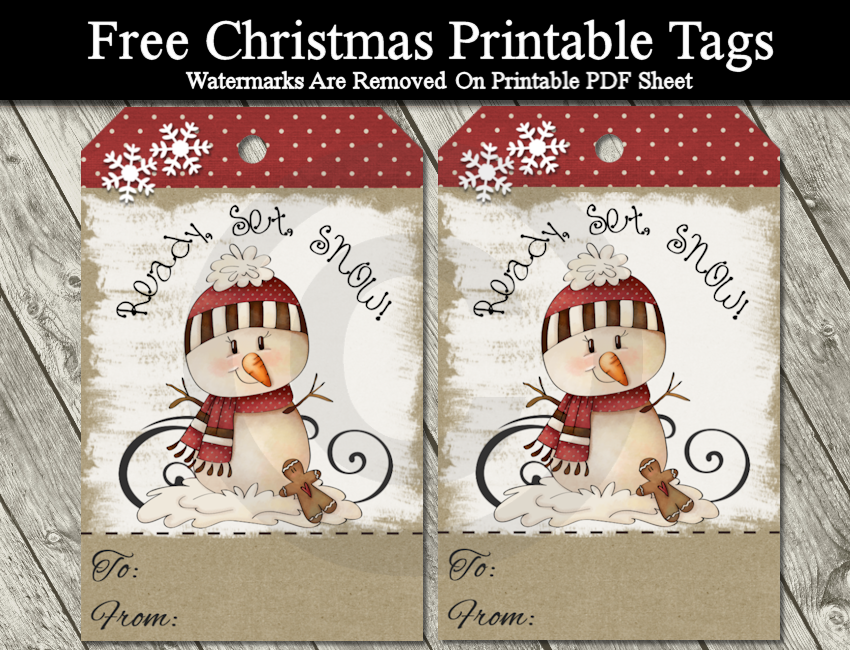 picture relating to Free Printable Primitive Snowman Patterns titled Do it yourself Cost-free Printable Cartoon Xmas Tags