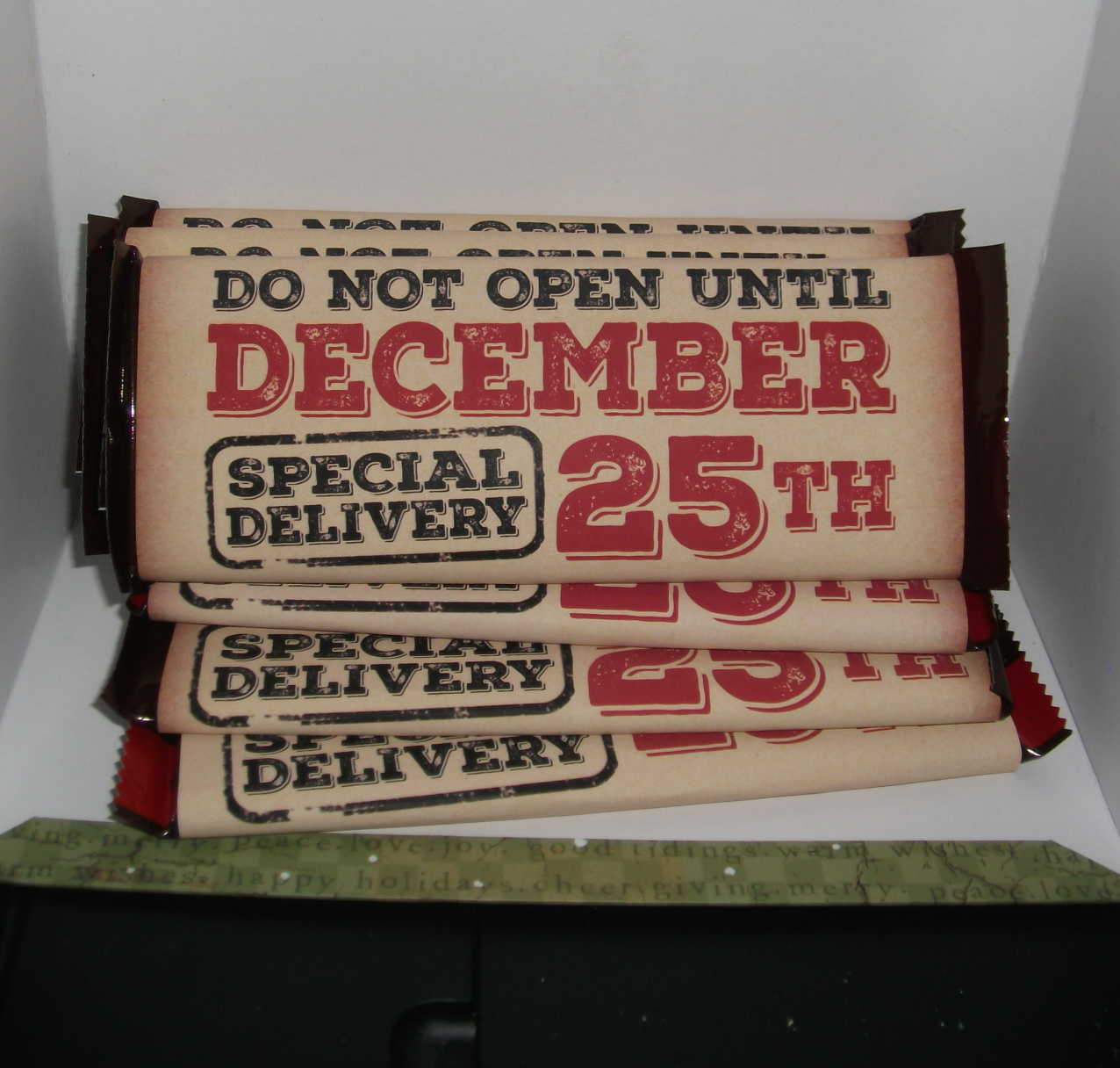 diy do not open until december 25th candy bar wrapper