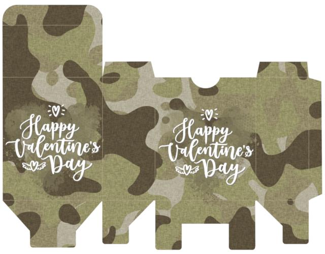 Camo Valentine Gift Box Free Printable Cutecrafting