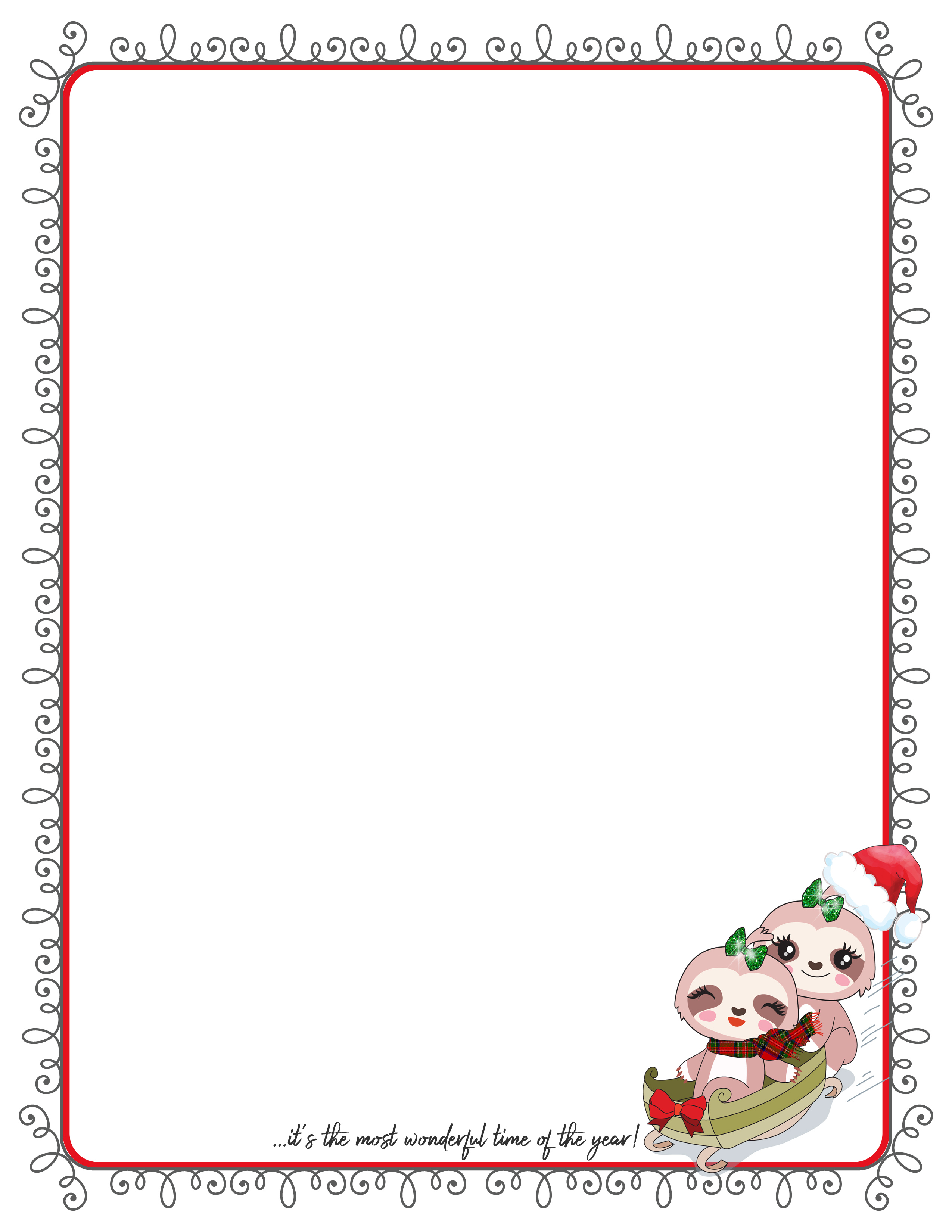 photo regarding Printable Christmas Letter Paper known as Printable Extremely Stationery For Letter Creating Working with Small Ink