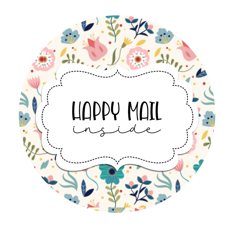 2inch-round-blue2-flowers-happy-mail-sticker