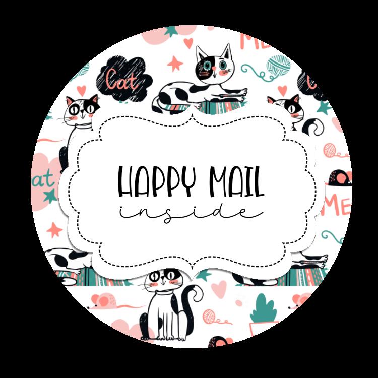 2inch-round-cat-doodle-happy-mail-sticker