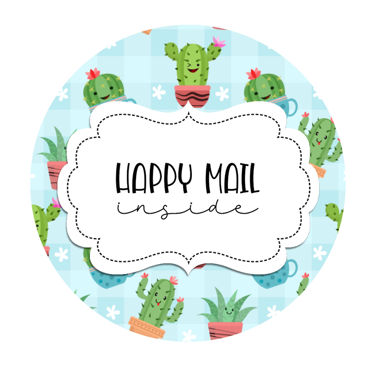 2inch-round-funny-cactus-happy-mail-sticker