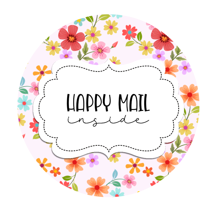 2inch-round-tiny-pink-flowers-happy-mail-sticker