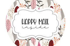 2inch-round-boho-feathers-happy-mail-sticker