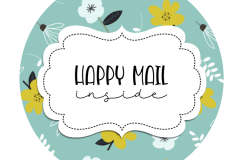 2inch-round-flowers-bluebg-happy-mail-sticker