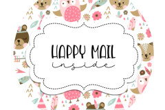2inch-round-woodland-pink-animals-happy-mail-sticker