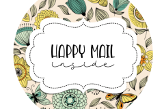 2inch-yellow-teal-flowers-happy-mail-sticker