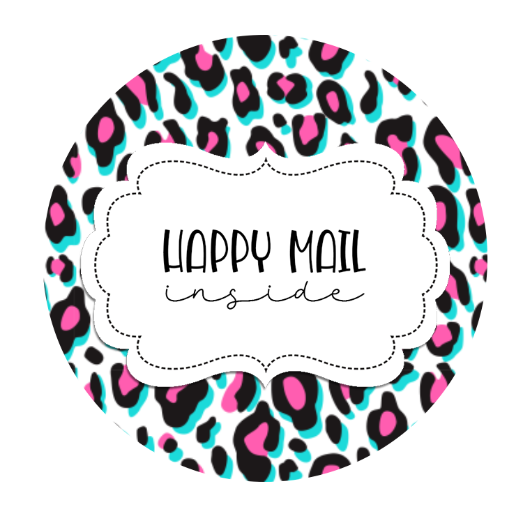 2inch-blue-pink-leopard-happy-mail-sticker