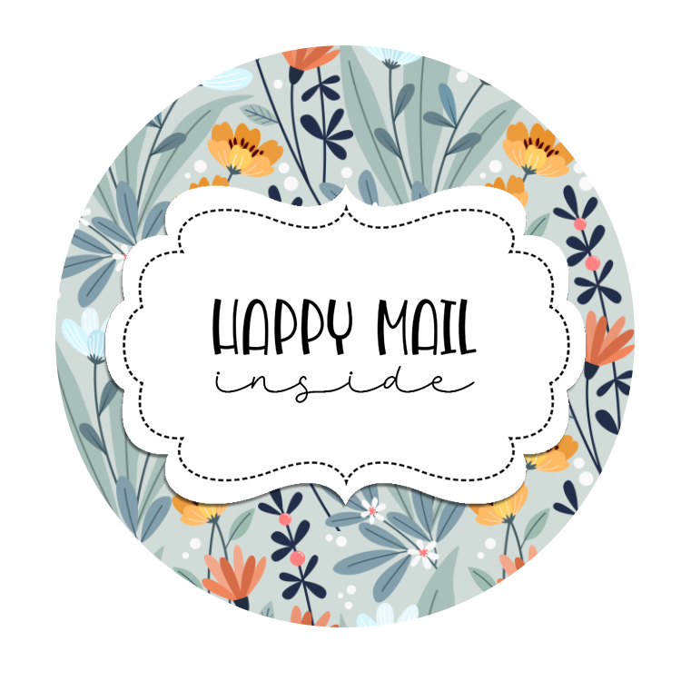 2inch-blue-tones-flowers-happy-mail-sticker