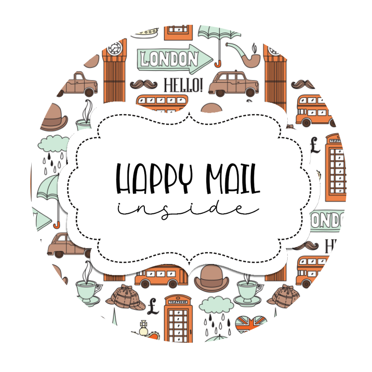 2inch-london-orange-happy-mail-sticker
