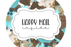 2inch-brown-cream-blue-flowers-happy-mail-sticker