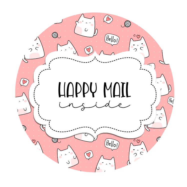 2inch-cute-cats-hello-pink-happy-mail-stickers