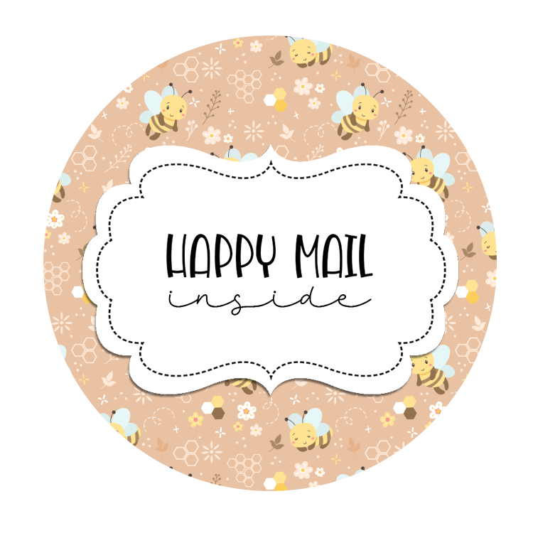 2inch-peach-bees-happy-mail-stickers