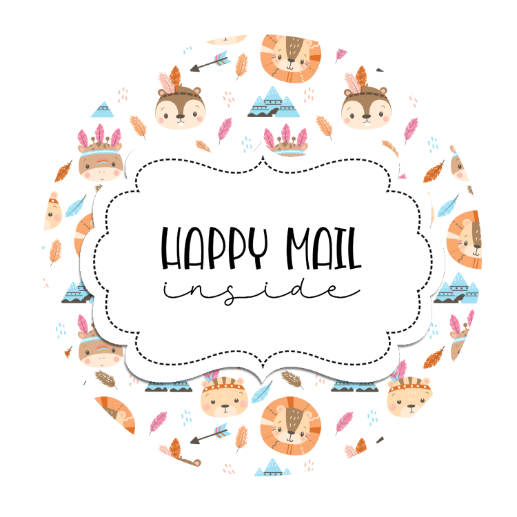 2inch-woodland-critter-indians-happy-mail-stickers