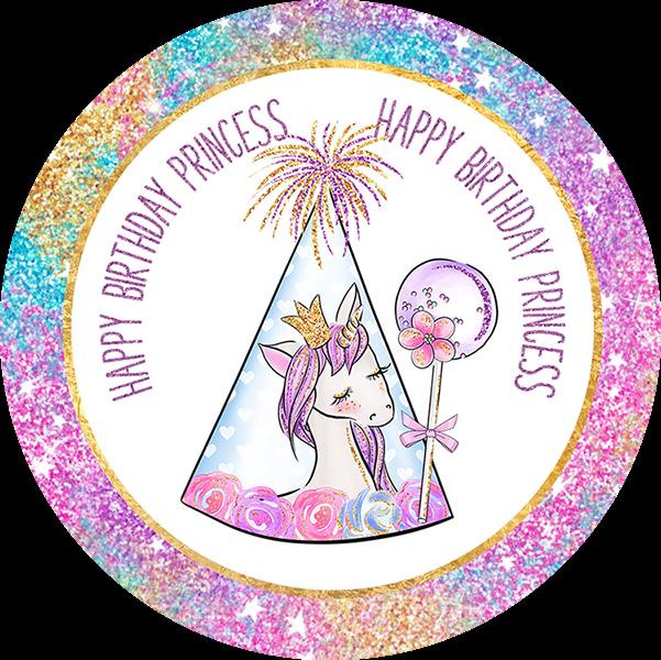 Happy Birthday Little Princess Unicorn Party Printable 1 2